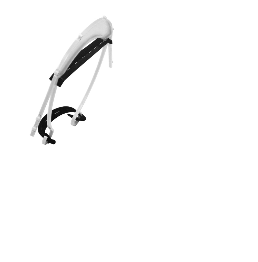 Visière blanche