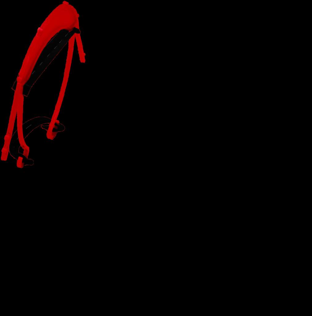 Visière rouge